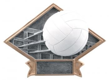 Diamond Resin Volleyball Plate Available in 2 sizes