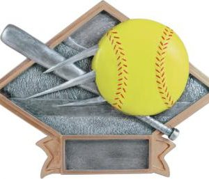 Diamond Resin Softball Plate Available in 2 sizes
