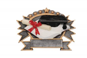 RF2741 Resin Star Graduation Plate Award large size