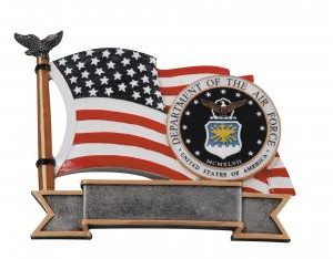 RF2711 Resin Star Air Force Plate Award large size RF2611 medium size