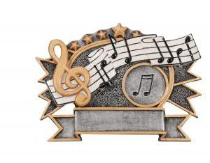 RF2743 Resin Star Music Plate Award large size