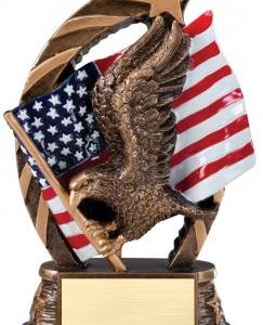 RST600 Colorful Running Star Resin Eagle Medium Award