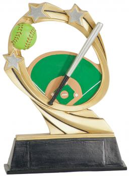 JDS RCM212 Cosmic Softball Resin Award