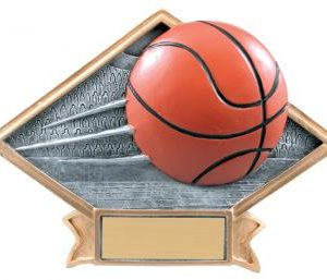 Diamond Resin Basketball Plate Available in 2 sizes