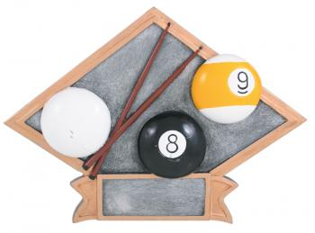 Diamond Resin Billiards Plate Available in 2 sizes