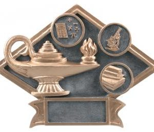 Diamond Resin Lamp of Knowledge EducationPlate Available in 2 sizes