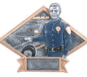 Diamond Resin Police Officer Plate Available in 2 sizes
