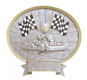 Oval Resin Go Kart Plate Award