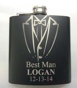 Laser Engravable Flask is a great gift holds 6 oz