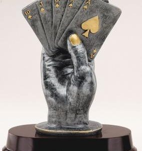RF2771 Hand of Cards Statue Award