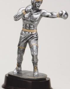 RF1301SG Boxer on a Mahogany Base statue award