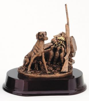RFS361B Hunting Dog, Rifle & Catch of Ducks Statue