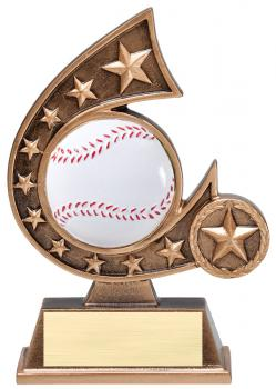 Comet Star Burst Baseball Resin Award