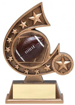 Comet Star Burst Football Resin Award