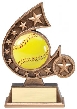 Comet Star Burst Softball Resin Award