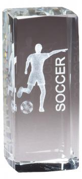 CRY1214 Collegiate Series Sports Crystal Soccer