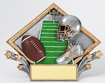 MPI Color Diamond Football Plate Award