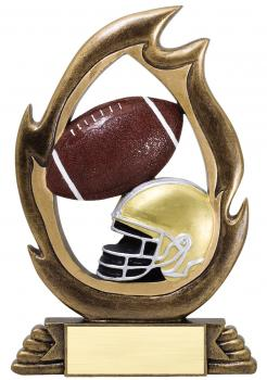 Flame Series Football Resin Award