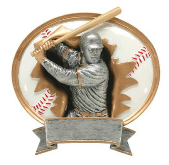 PDU Blaster 3D Baseball Oval Resin Award