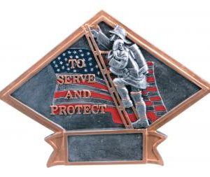 Diamond Resin Firefighter Plate Available in 2 sizes