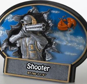 Liberty Burst Thru 3D Resin Shooter Rifle Plate Award