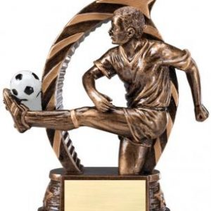 RST618 Running Star Resin Male Soccer Medium Award