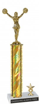"2 Hole Marble Base 14"" overall trophy"