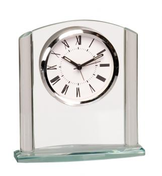 GCK001 Clear Glass Arched Clock