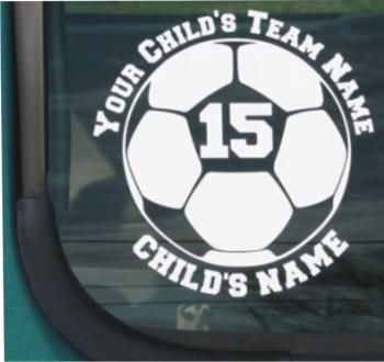 Vinyl Window Lettering for Team Support