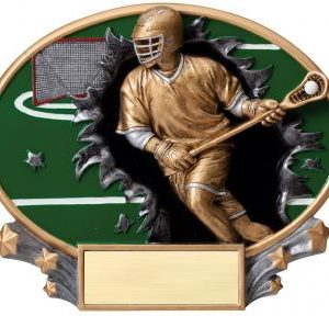 MX2039 Male Lacrosse Xplosion Oval Resin Award