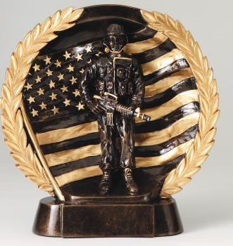 MPI RFH541 Super 3D Military Veterans Resin Award