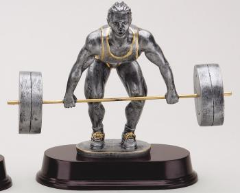 MPI RX441SG Male Dead Lift Weightlifter Resin Award