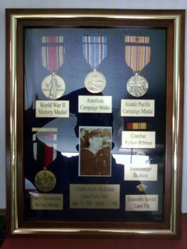 Military Medals Display Case