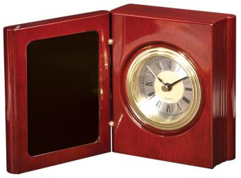 JDS T140 Rosewood Finish Desk Book Clock