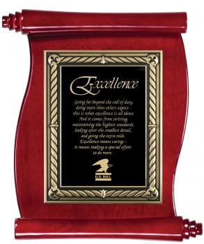 MPI PSR2 Rosewood Scroll Plaque with black brass plate of engraving